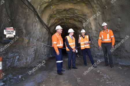 (l-r) Oz Minerals Chairman Neil Hamilton South Australia Premier Jay Weatherill Kokatha Aboriginal Corporation Chairman Chris Larkin and Oz Minerals Ceo Andrew Cole at the Official Opening of the Tjati Decline at the Carrapateena Mining Site North of Port Augusta South Australia Australia 03 November 2016 Mining Company Oz Minerals Has Drawn Closer to Tapping Into One of Australia's Largest Undeveloped Copper Deposits with the Opening of a Mine Decline in Rural South Australia the Copper and Gold Miner Has Officially Opened the Decline at Its Carrapateena Site North of Port Augusta Ticking Off a Significant Milestone in the Project Australia Port Augusta