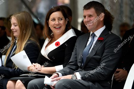 Nsw Premier Mike Baird and Wife Kerryn Look on Prior to the Remembrance Day Service at the Cenotaph in Sydney New South Wales (nsw) Australia 11 November 2016 Remembrance Day Informally Known As Poppy Day is a Memorial Day Observed in Commonwealth of Nations Member States Since the End of the First World War (wwi) to Remember the Members of Their Armed Forces who Have Died in the Line of Duty the Anniversary is Used to Remember All the People who Have Died in Wars not Just Wwi Australia Sydney
