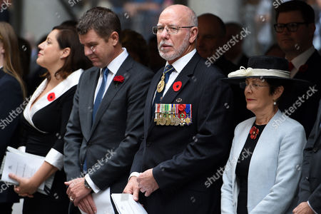 Nsw Premier Mike Baird (c-l) and Nsw Governor General David Hurley (c-r) Watch on During the Remembrance Day Service at the Cenotaph in Sydney New South Wales (nsw) Australia 11 November 2016 Remembrance Day Informally Known As Poppy Day is a Memorial Day Observed in Commonwealth of Nations Member States Since the End of the First World War (wwi) to Remember the Members of Their Armed Forces who Have Died in the Line of Duty the Anniversary is Used to Remember All the People who Have Died in Wars not Just Wwi Australia Sydney