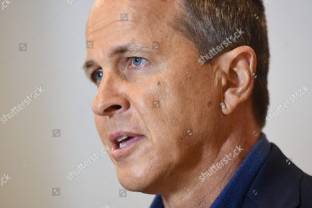Australian Journalist Peter Greste Answers a Question During a Press Conference in Sydney Australia 30 August 2015 Greste and His Al Jazeera Colleagues Canadian-egyptian Mohamed Fahmy and Egyptian Baher Mohamed Have Been Sentenced On 29 August 2015 to Three Years in Jail Each by an Egyptian Court On Charges of Broadcasting False News and Working Without Permits in the Retrial of a Case That Has Highlighted the Country's Crackdown On the Media Greste Was Deported This Year to Australia and Tried in Absentia