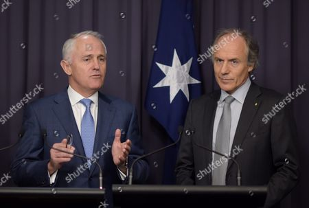 Editorial picture of Newly Appointed Chief Scientist Dr Alan Finkel Press Conference in Canberra - Oct 2015