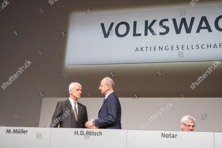 Stock Photo of Matthias Müller, Hans Dieter Potsch