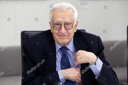 Editorial photo of Lakhdar Brahimi, New York, USA - 08 May 2017