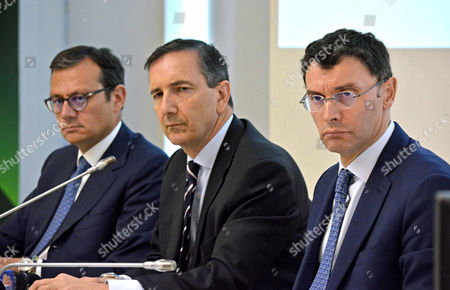 Editorial picture of Alitalia special commissioners news conference, Fiumicino, Italy - 10 May 2017