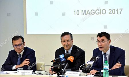 Editorial image of Alitalia special commissioners news conference, Fiumicino, Italy - 10 May 2017