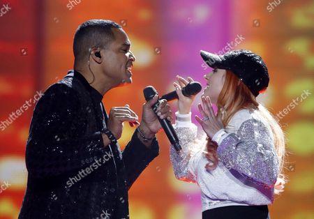 Valentina Monetta and Jimmie Wilson