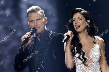 Koit Toome and Laura from Estonia perform the song 'Verona' during rehearsals for the Second Semi-Final of the 62nd annual Eurovision Song Contest (ESC) at the International Exhibition Centre in Kiev, Ukraine, 10 May 2017. The ESC 2017 Grand Final is held on 13 May.