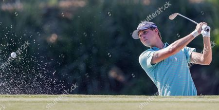 Smylie Kaufman of the US at the seventh green during practice for THE PLAYERS Championship at TPC Sawgrass Stadium Course in Ponte Vedra Beach, Florida, 10 May 2017. The tournament runs 11 May through 14 May.
