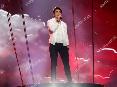 "Brendan Murray from Ireland performs the song ""Dying To Try"" during rehearsals for the Eurovision Song Contest, in Kiev, Ukraine, . The final of The Eurovision Song Contest 2017 will be held on May 13"