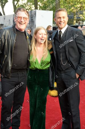Geoff Bell, guest and Charlie Hunnam