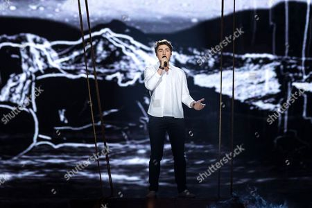 "Brendan Murray of Ireland performs his song ""Dying to Try"" at the dress rehearsal for the second semi final show of the Eurovision Song Contest 2017"