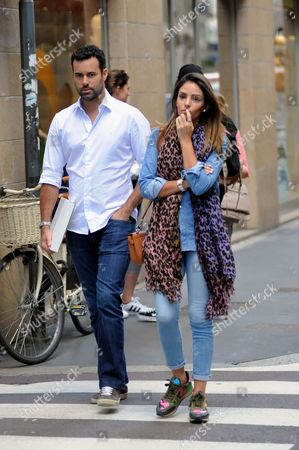 Editorial image of Caroline Celico and Eduardo out and about, Milan, Italy - 10 May 2017