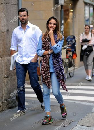 Stock Picture of Caroline Celico and Eduardo Scarpa