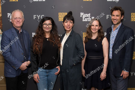 Sarah Barnett, Mike Gunton, Emma Napper, Fredi Devas, Sonya Saraiya Producer Mike Gunton, moderator Sonya Saraiya, BBC America President Sarah Barnett, producer Emma Napper and producer Fredi Devas attend the BBC America Planet Earth II Emmy FYC screening at the Crosby Street Hotel, in New York
