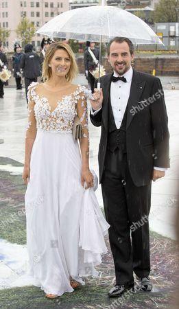 Stock Picture of Prince Nikolaos and Princess Tatiana of Greece