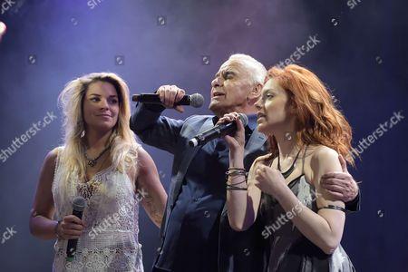 Sophie Tapie, Michel Fugain and Anais Delva