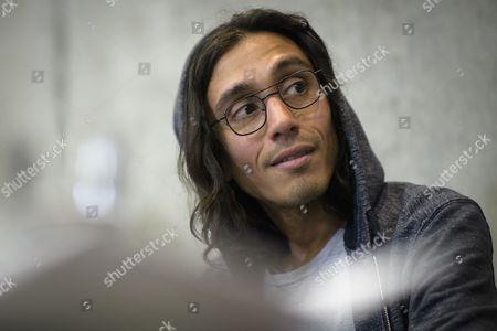 """Adrian Villar Rojas of Argentina is pictured during a press conference of his exhibition """"The Theater of Disappearance""""  in Bregenz, Austria, 11 May 2017. The exhibition will be on display from 13 May to 27 August."""