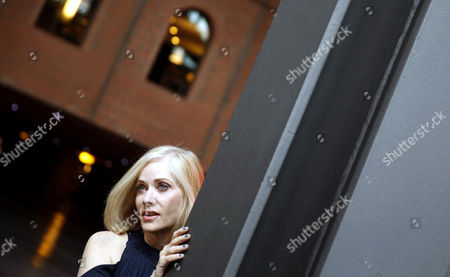 US actress Barbara Crampton poses after receiving the honor award FANT Star at the International Fantasy Film Festival in Bilbao, Spain, on 11 May 2017.