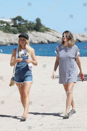 Editorial image of Amanda Clapham and Sophie Porely out and about, Ibiza, Spain - 11 May 2017
