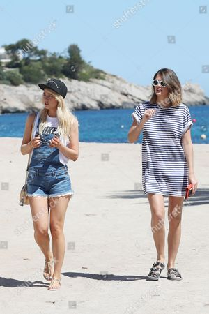 Editorial photo of Amanda Clapham and Sophie Porely out and about, Ibiza, Spain - 11 May 2017