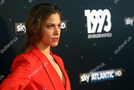 Italian actress Tea Falco poses during a photocall for '1993', Italian Television Series, that will be broadcasted on Sky Atlantic HD in Milan, Itlay, 11 May 2017.