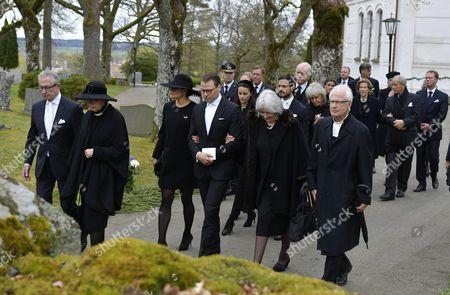 Tord Magnuson, Princess Christina, Crown Princess Victoria, Prince Daniel, Princess Margaretha of Liechtenstein, Lars-Göran Lönnermark