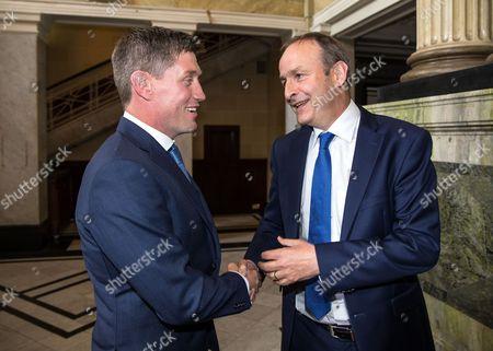Ronan O'Gara with Fianna Fail leader Michael Martin