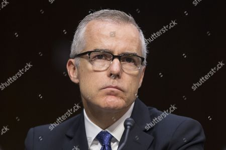 Acting FBI Director Andrew McCabe appears before the Senate Select Committee on Intelligence hearing on 'World Wide Threats', on Capitol Hill in Washington, DC, USA, 11 May 2017. Senate Democrats have strongly criticized US President Donald J. Trump's firing of James Comey as Director of the FBI. Some Senators are calling for the appointment of a special prosecutor to take over the inquiry into Russia's interference in the US presidential election of 2016. Also in this picture (L to R); CIA Director Mike Pompeo, Director of National Intelligence Daniel Coats, National Security Agency Director Admiral Mike Rogers, Defense Intelligence Agency Director Lieutenant General Vincent Stewart and National Geospatial-Intelligence Agency Director Robert Cardillo.