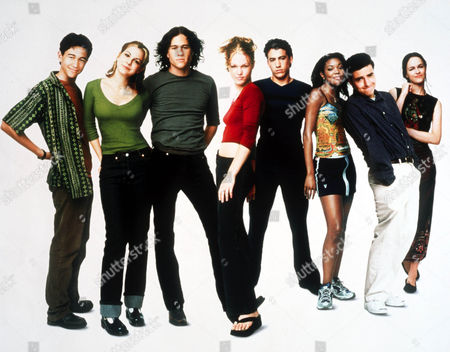 Joseph Gordon Levitt, Larisa Oleynik, Heath Ledger, Julia Stiles, Andrew Keegan, GABRILLE UNION, David Krumholtz, SUSAN MAY PRATT