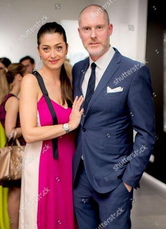 Jean-David Malat and wife Iriane