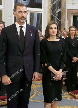 King Felipe VI, Queen Letizia, Princess Elena, Princess Cristina