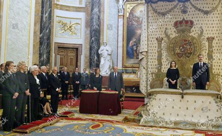 King Felipe VI, Queen Letizia, King Juan Carlos, Former Queen Sofia, Princess Elena, Princess Cristina, Princess Pilar, Duke of Alba, Duke of Soria, Princess Margarita