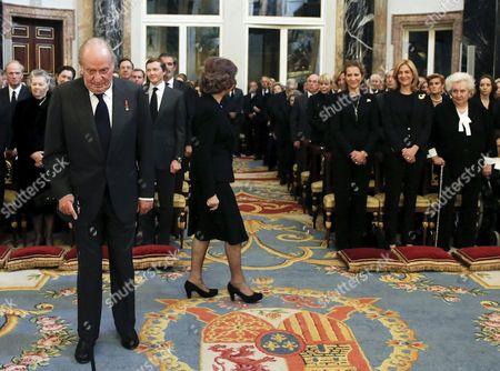 King Juan Carlos, Former Queen Sofia, Princess Elena, Princess Cristina, Princess Pilar