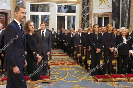 King Felipe VI, Queen Letizia, Princess Elena, Princess Cristina, Princess Pilar