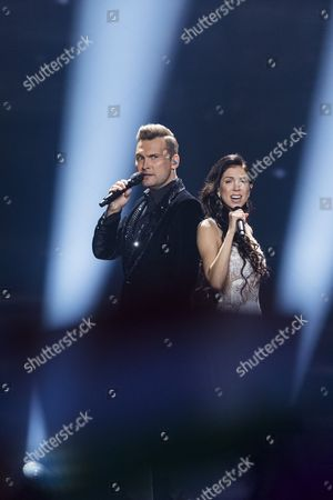 Koit Toome and Laura of Estonia perform their song 'Verona'
