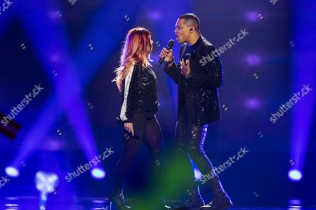 Valentina Monetta and Jimmie Wilson of San Marino perform their song 'Spirit of the Night'