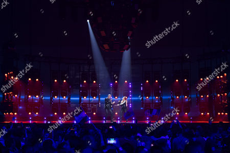 Stock Picture of Valentina Monetta and Jimmie Wilson of San Marino perform their song 'Spirit of the Night'