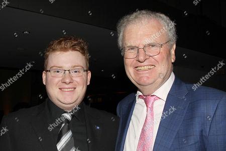 Sir Howard Stringer with Son