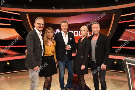 Joerg Pilawa, Frank Plasberg, Anne Gesthuysen, Mia and Jenke von Wilmsdorff
