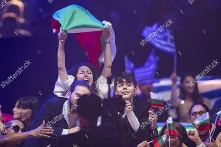 Kristian Kostov of Bulgaria in the Green Room after the grand final show of the Eurovision Song Contest 2017 in Kiev, Ukraine on may 13, 2017.