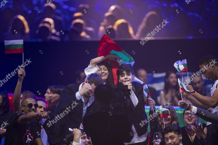 Kristian Kostov of Bulgaria in the Green Room after the grand final show of the Eurovision Song Contest 2017