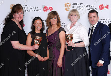 Nicola Shindler, Siobhan Finneran, Sarah Lancashire and Con O'Neill - Best Drama - Happy Valley