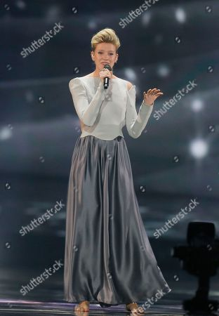 "Isabella Lueen from Germany perform the song ""Perfect Life"" during rehearsals for the Eurovision Song Contest, in Kiev, Ukraine,. The final of The Eurovision Song Contest 2017 will be held on May 13"