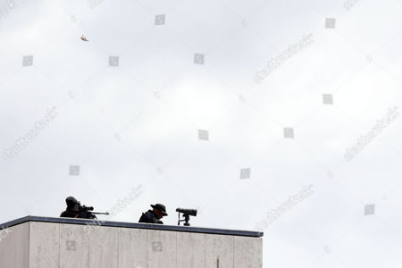 Snipers take position before Pope Francis' arrival at Sanctuary of Fatima, Portugal, 12 May 2017. Francis is the fourth pope to visit Fatima on May 12 and 13 to canonize the little shepherds Francisco and Jacinta in the centenary of the 'apparitions' in 1917. The previous popes who were in Fatima were Paul VI (1967), John Paul II (1982, 1991, 2000) and Benedict XVI (2010).