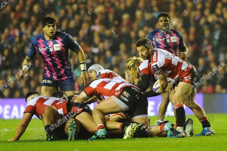 Greg Laidlaw couldn't salvage a recovery for Gloucester in the European Rugby Challenge Cup match between Gloucester Rugby and Stade Francais at BT Murrayfield, Edinburgh