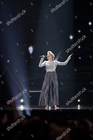 "Isabella Lueen of Germany performs her song ""Perfect Life"""
