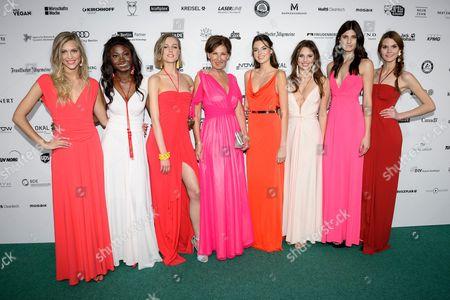 Eva Lutz, Sabine, Carina, Serlina, Maja, Lynn, Celine, Leticia and Romina (GNTM)