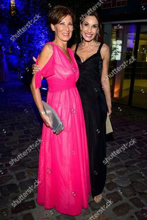 Stock Photo of Eva Lutz and Dagmar Koegel