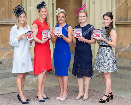 Stock Image of Georgina Twigg, Crista Cullen, Susannah Townsend, Hollie Webb and Laura Unsworth all awarded MBEs