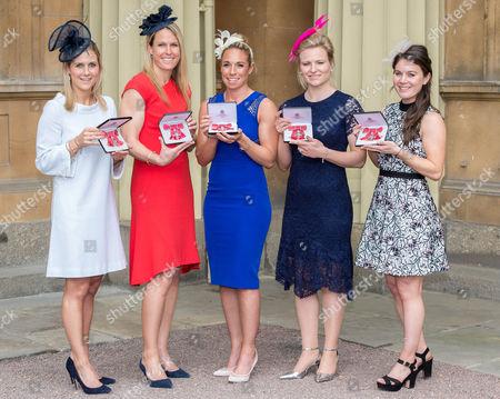 Georgina Twigg, Crista Cullen, Susannah Townsend, Hollie Webb and Laura Unsworth all awarded MBEs